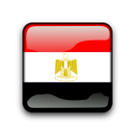 Web button with flag Egypt