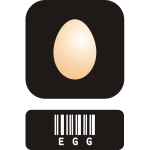 Vector graphics of egg icon