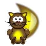 Funny cat mascot vector drawing