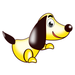 Yellow dog vector image
