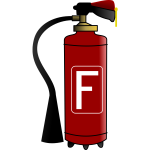 Red fire extinguisher drawing