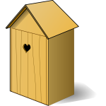 Vector image of back house wooden toilet