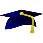 Blue academic hat