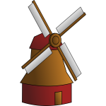 Vector graphics of a windmill