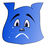 Blue crying character