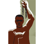Empowered black man vector image