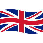 Wavy Union Flag Vector