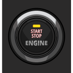 Engine start stop button vector illustration