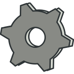 Vector clip art of grayscale settings options icon