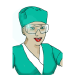 Medical nurse vector graphics