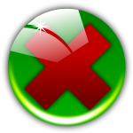 Vector image of round erase icon