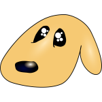 Cute sad dog