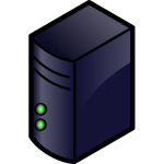 Color server icon vector image