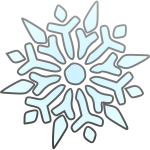 Vector graphics of segmented snowflake