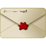 Sealed envelope vector image