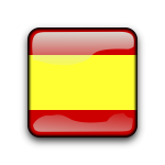 Glossy vector button with Spanish flag