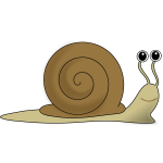 Vector image of brown snail