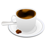 Vector illustration of cup of espresso coffee