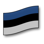 Estonian flag vector