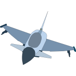 Eurofighter Typhoon airplane vector image