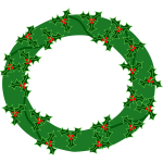 Evergreen wreath vector image