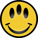 Vector image of three eyed emoticon
