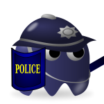 Game policeman icon vector image