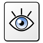 Vector clip art of sparkling eye square vector sign