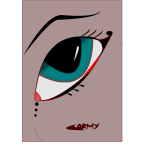 Fantasy female eye vector image