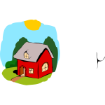 Vector image of fairy-tale house