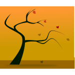 Vector image of fall tree