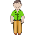 Vector illustration of daddy in green shirt