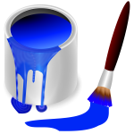 Paintbrush and bucket