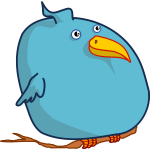 Fat bird vector clip art