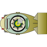 Drawing of interior of an electronic shark