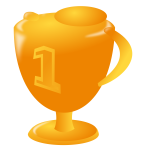 Vector illustration of first place trophy