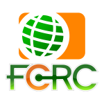 FCRC globe shiny icon vector image
