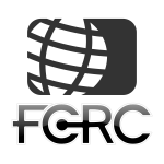 FCRC globe logo vector illustration in black and white