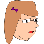 Vector drawing of woman's head