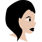 Vector graphics of woman's cartoon face