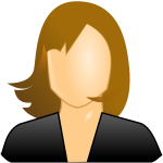 Female user icon image