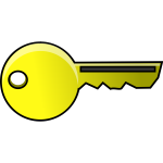 Plain gold key vector clip art