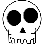 Black and white skull