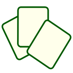 Vector drawing of simple green outline PC file icon