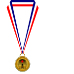 Gold medallion illustration
