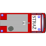 Fire emergency truck top view vector image