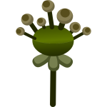 Vector image of decorative green fake flower