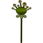 Vector drawing of straight stem flower