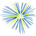 Blue fireworks vector drawing