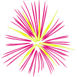 Pink fireworks vector illustration